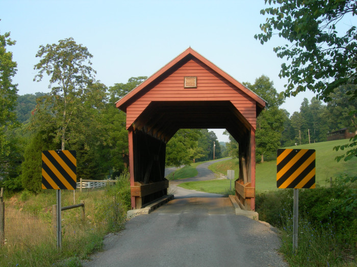 3. The Laurel Creek Covered Bridge is the shortest covered bridge in the state at 22 feet long.