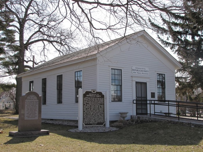 2. Little White Schoolhouse (Ripon). This is the birthplace of the Republican party.