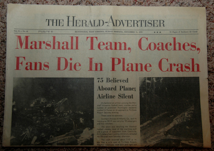 9) November 14, 1970 was a dark day for Marshall University.