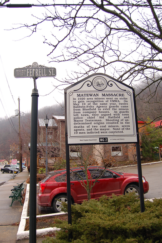 1) The Matewan Historic District is located in Matewan, WV.