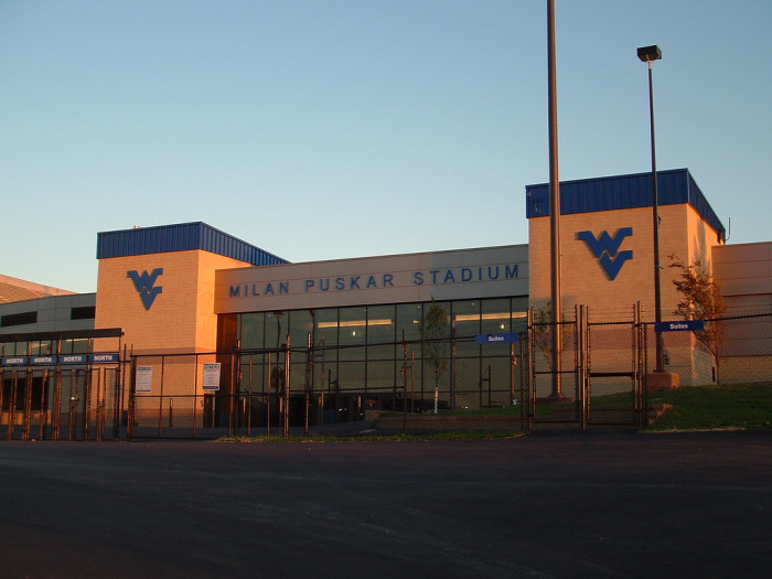 5) The Milan Puskar Stadium, also known as Mountaineer Field, is the football stadium for WVU.