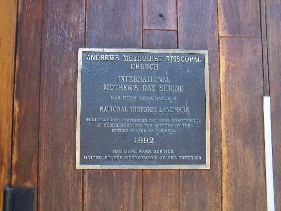 """4) Andrews Methodist Episcopal Church, nicknamed """"the mother church"""" of Mother's Day, is where Mother's Day was very first celebrated."""