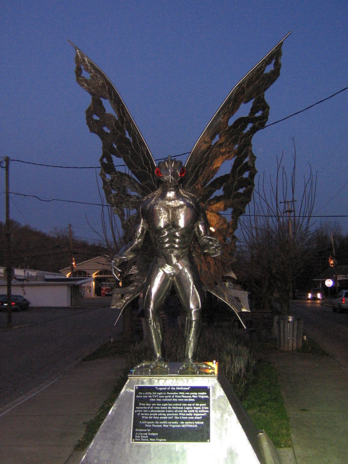 2) The Mothman is a winged bird/man hybrid creature that hails from Point Pleasant, WV.