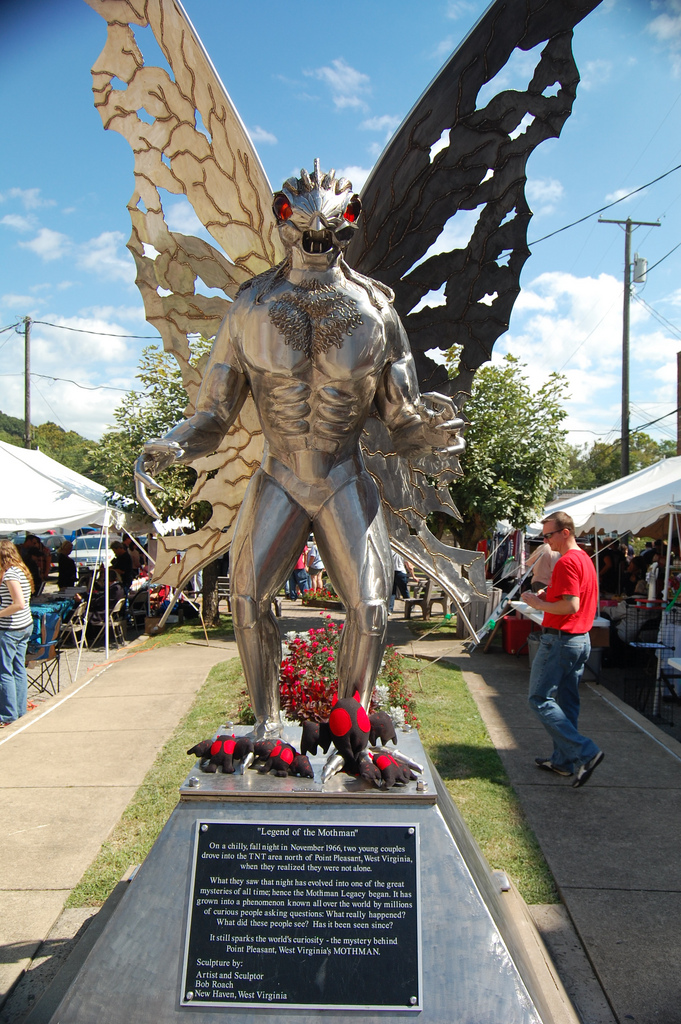 West Virginia Festivals! Pictured below is the Mothman statue in Point Pleasant, WV.