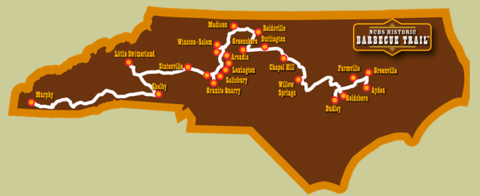 9. Spend a week to take a road trip along the NC Barbecue Trail.