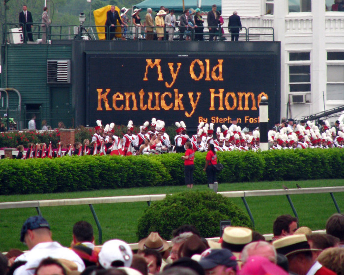 """2. """"My Old Kentucky Home,"""" a song and statement you sing after every major sporting event or function, one can't help but sway and smile while singing."""