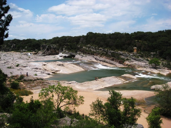 7. Unique rock formations and natural water slides at Pedernales Falls State Park in Johnson City, Texas. This state park really offers a glimpse into the past when this river tore through the rocks, creating the interesting patterns you see today.