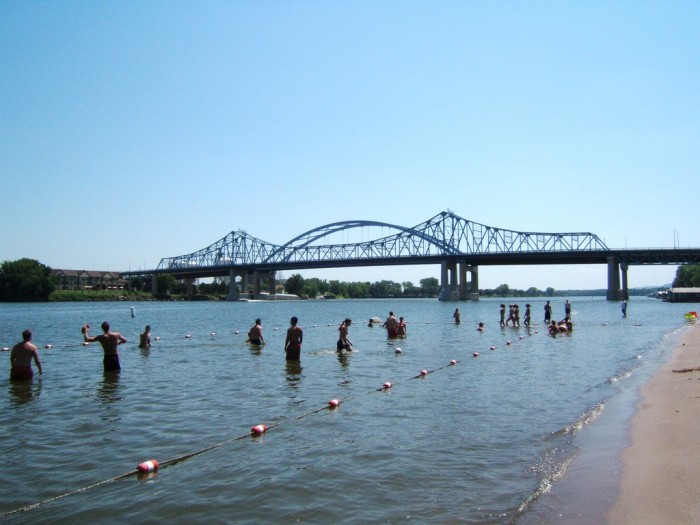 3. Pettibone Beach (LaCrosse). Scenic beach and great setting for a day in the water.