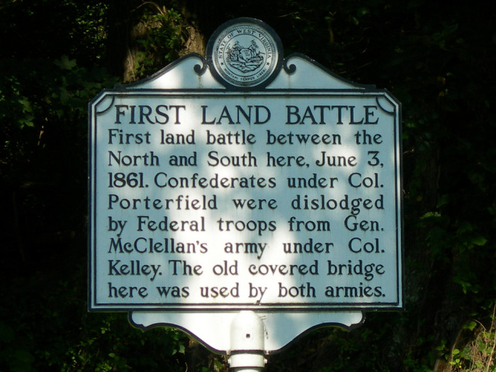 7) The Battle of Philippi, which is located in Barbour County, happened on June 3, 1861.