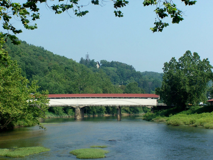 The Philippi Covered Bridge was used by both Union and Confederate troops in the Battle of Philippi.