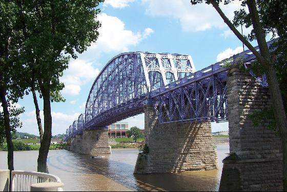 4. Walk, run or jog across the Purple People Bridge in Newport