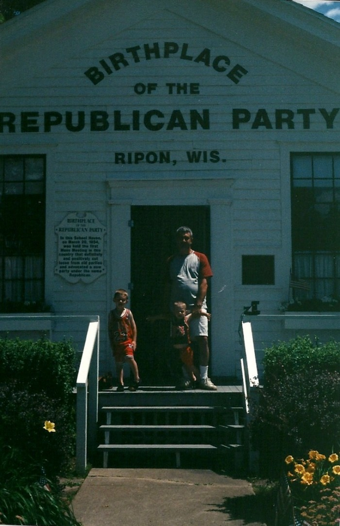 3. The Republican Party was born in Wisconsin.