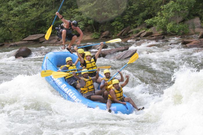 6) Whitewater Raft