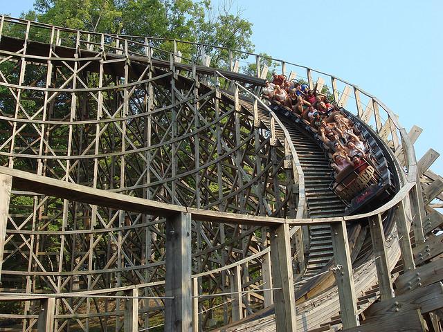 4) Scream Down a Roller Coaster