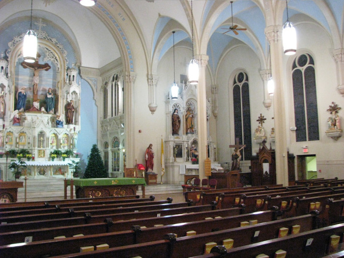 9) St. Alphonsus Church is an incredibly beautiful church located in Wheeling, WV.