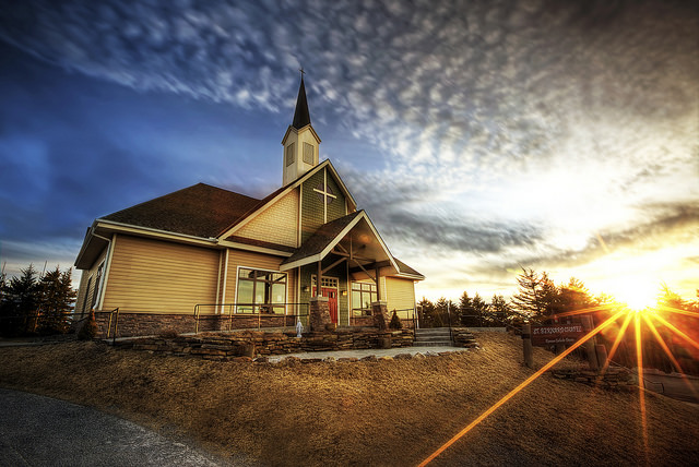 10) St. Bernard Chapel is located in the beautiful town of Snowshoe, WV.