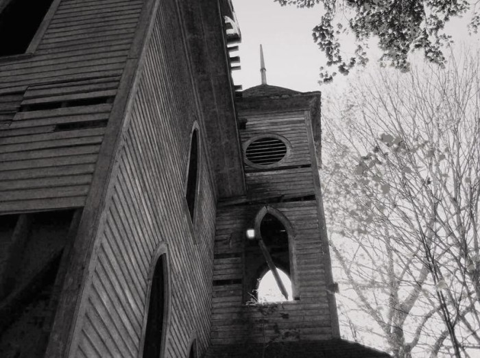 13) This is the abandoned Stotesbury Church located in the old coal town of Stotesbury, WV.