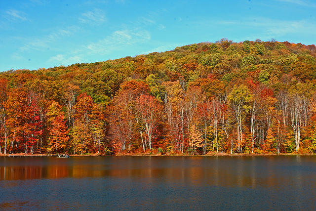 7) Summit Lake is a 43 acre reservoir in Greenbrier County.