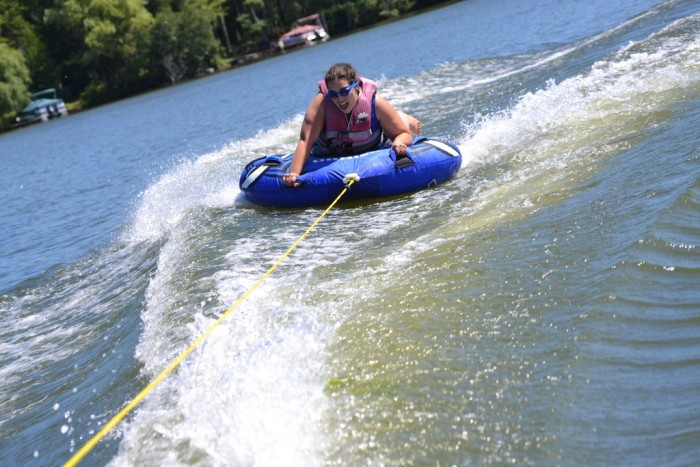 2. Tubing (anywhere). Grab an inexpensive tube and call up your buddy to bring out his boat. Hours of free enjoyment for the whole family.