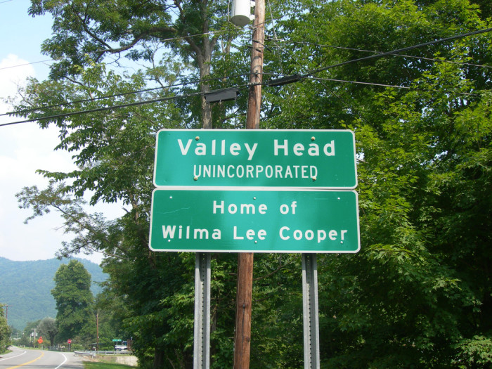 9) Wilma Lee Cooper, born in Valley Head, WV, was a bluegrass singer.