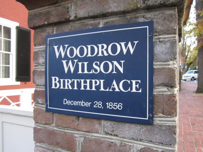 woodrow wilson birthplace