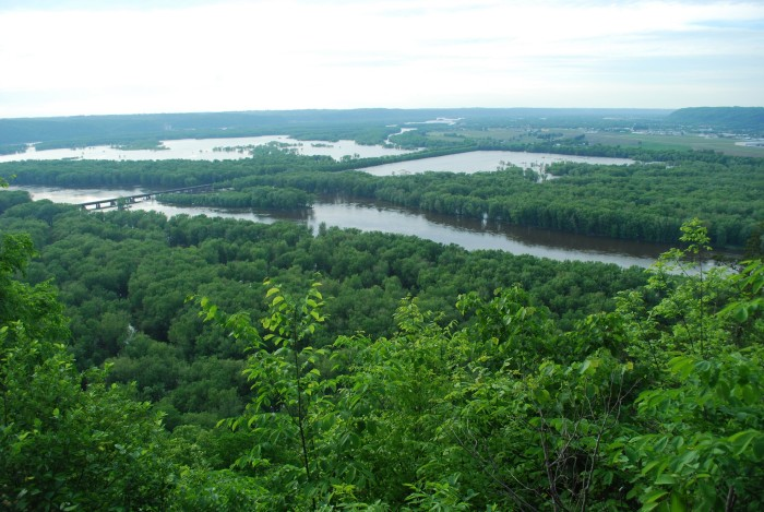 7. Wyalusing State Park. There really is no bad view the entire time you're here. The park is at the confluence of the Wisconsin and Mississippi rivers, meaning the forests are rich and lush.