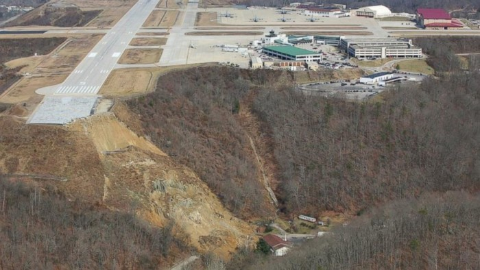 6) Yeager Airport Landslide
