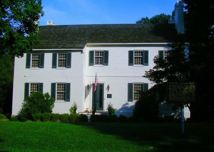 8. Zachary Taylor House