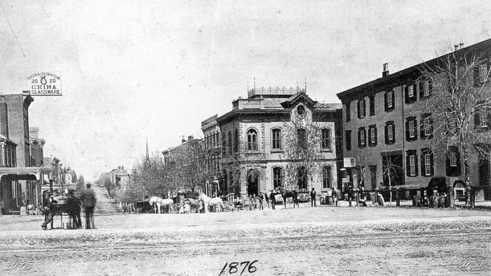 8. Looking North From Center Square in Allentown, 1876