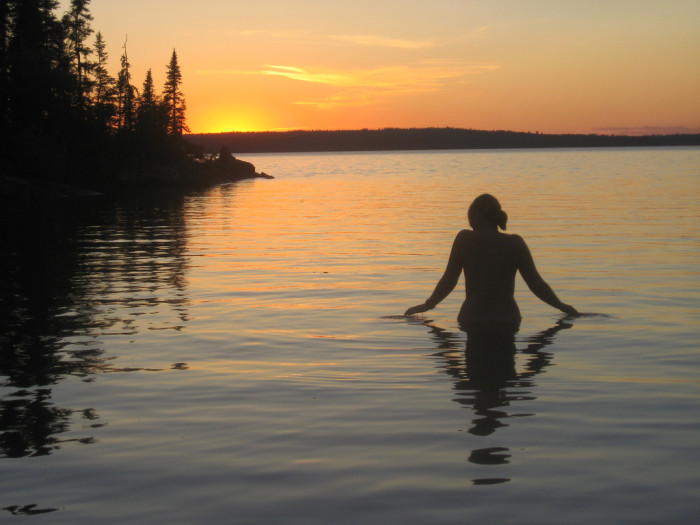 5. Went skinny dipping on an overly warm summer night.