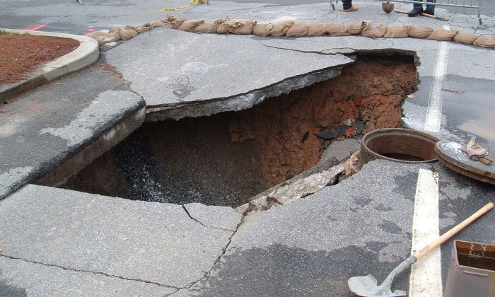 5. Sinkholes Might Eat You Up.
