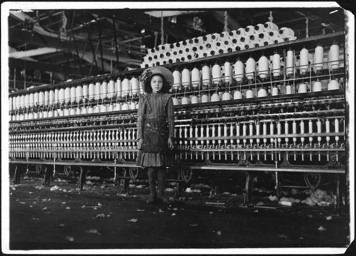 20. Young Girl Cotton Spinner in a Roanoke Cotton Mill, 1911
