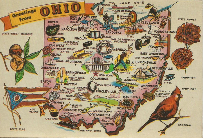 5) Columbus, Cincinnati and Cleveland—even though the rest of us know that's only scratching the surface of Ohio.