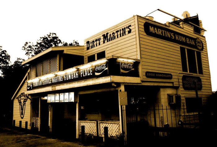 4) Dirty Martin's - Austin,  2808 Guadalupe St Austin, TX 78705
