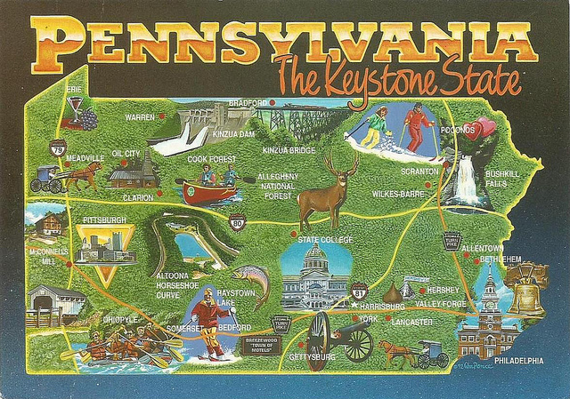8. We're the Keystone State, and thus see a unique blending of regional cultures.