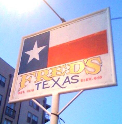 1) Fred's Texas Cafe - Fort Worth,  915 Currie St Fort Worth TX 76107