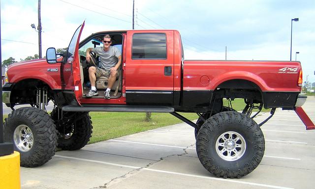8) Ridiculously big trucks