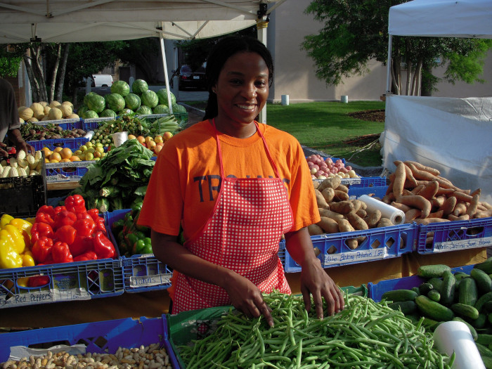 12. We have a surplus of beautiful farm fresh vegetables and fruits here. You can find them in the farmer's markets and roadside stands. We even have organic farm stands with the addition of organic cheeses, milks, and meats.