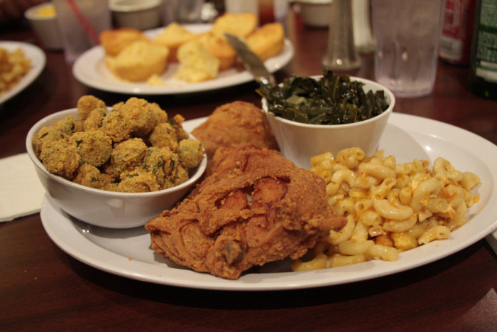 13. Soul Food. Okra, greens, fried green tomatoes (heck yes), boiled peanuts, grits, we love them all here.