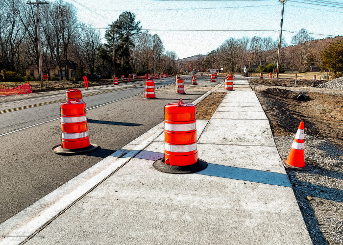 6) With that being said, be prepared to drive through construction zones and mazes of orange barrels like it's your job.