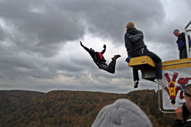 6. On one of your favorite days of the year, people gather to throw themselves off a bridge...