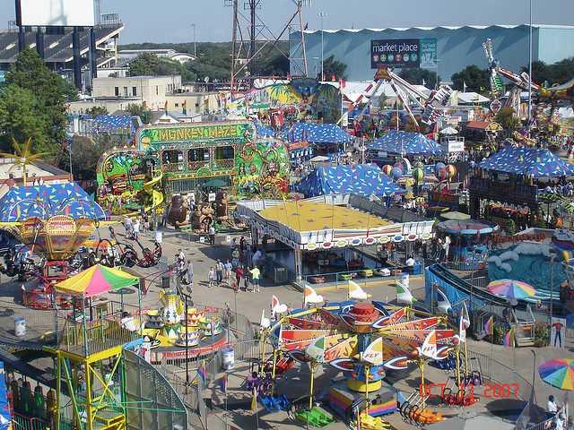 5) The State Fair of Texas, plus all the local fairs and festivals throughout the state.
