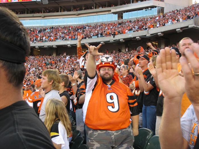 4) The ever-determined, faithful Bengals/Browns/Indians/Reds fan.