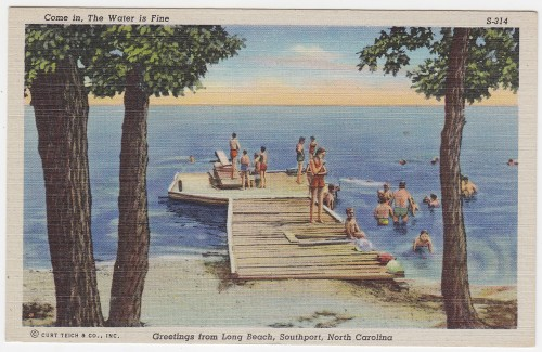 11. This 1940's vintage postcard shows people know how to spend a hot summer day in Southport.