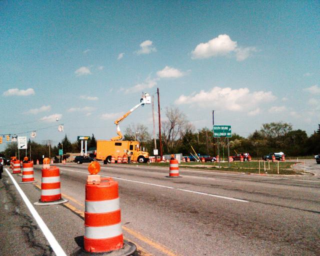 7) Road construction.