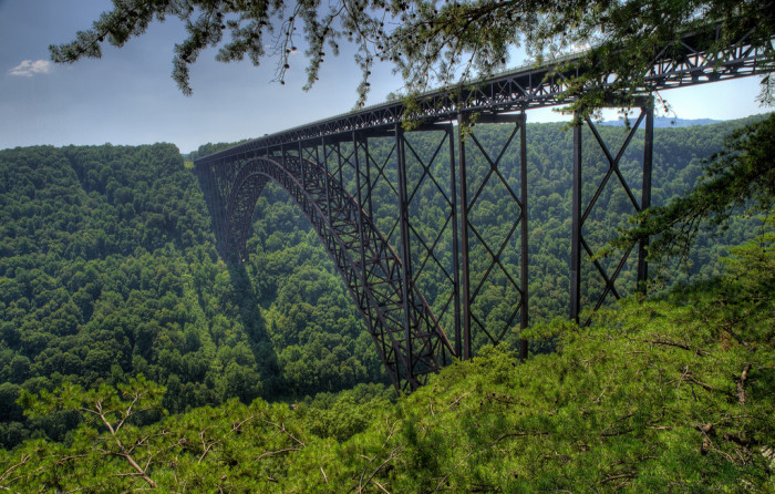 The New River Gorge Bridge is near Hawk's Nest State Park, and is absolutely one of the most amazing things to visit while around Hawks Nest State Park.