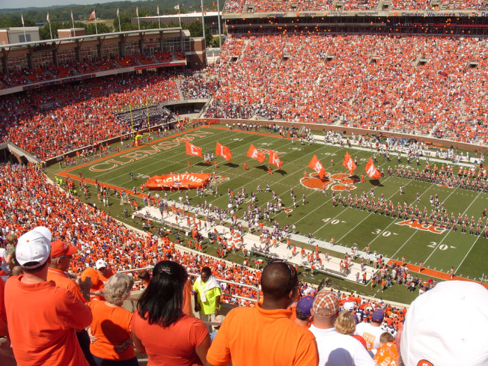 13. Anytime we watch a Clemson or