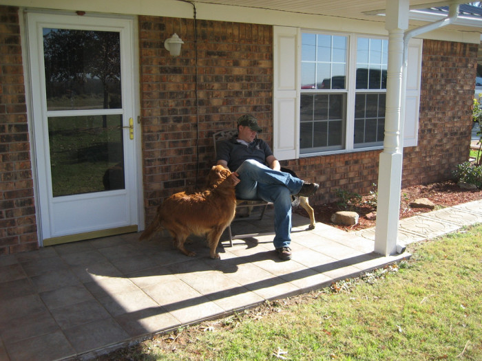 13) The down-to-earth, friendly people whom you genuinely enjoy stopping to talk to on their porch as you're passing by.