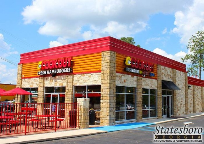 Cook-Out, 550 Fair Rd, Statesboro, GA 30458 and there's now one in Atlanta on Moreland Ave.