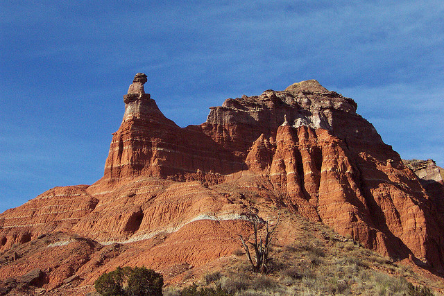 ..the Palo Duro Canyon in the Panhandle...